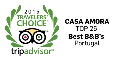 Tripadvisor Travelers Choice - Casa Amora Top 25 Best B&B's Portugal